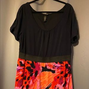 Lane Bryant Fit & Flare Dress Abstract Print